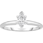 14K White Gold 1/2 Ct. Marquise Cut Diamond Solitaire Ring