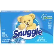 Snuggle Blue Sparkle Fabric Softener Sheets, 40 ct.