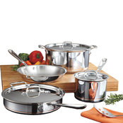 All-Clad Stainless Steel and Copper Core 7 pc. Cookware Set