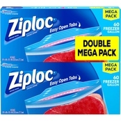 Ziploc Freezer Gallon Bags Mega Pack