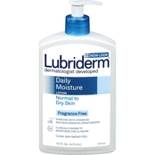 Lubriderm Daily Moisture Lotion Normal to Dry Skin Fragrance Free 16 oz.