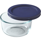 Pyrex Storage Plus 1 Cup Round Glass Dish with Lid