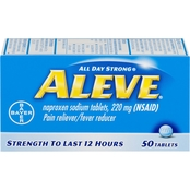 Aleve Pain Reliever/Fever Reducer Tablets, 50 Ct.