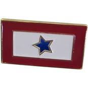Sayre Lapel Pin, 1 Blue Star