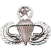Army Badge, Regular Mirror Finish, Master Parachutist