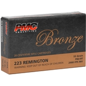 PMC Bronze .223 Rem 55 Gr. FMJ, 20 Rounds