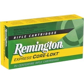 Remington .308 Win 150 Gr. Pointed Soft Point Core-Lokt, 20 Rounds