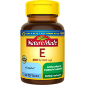 Nature Made Vitamin E 400 IU dl-Alpha Softgels 100 Ct.