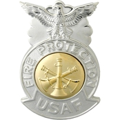Air Force Badge, Assistant Fire Chief, Mirror Finish, Pin-On, Regular Size