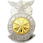 Air Force Deputy Fire Chief Badge, Mirror Finish, Pin-On, Regular Size
