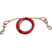 Titan Heavy Cable Dog Tie Out with Brass Plated Snaps 20 ft.