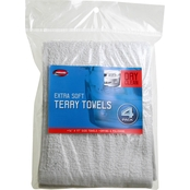 Carrand Extra Soft Terry Towels 4 Pk.