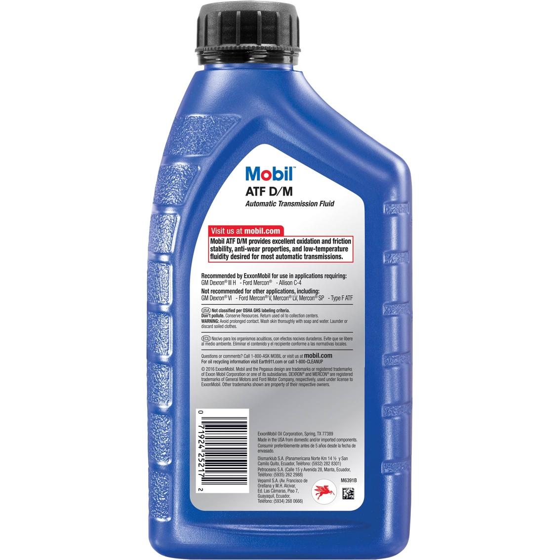 Mobil Atf D/m Automatic Transmission Fluid, 20 Qt.   Oils & Fluids ...