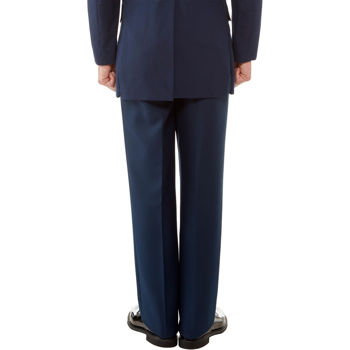 "Poly Wool Black Dress Trousers Waist 38/"" Inside Leg 34/"""