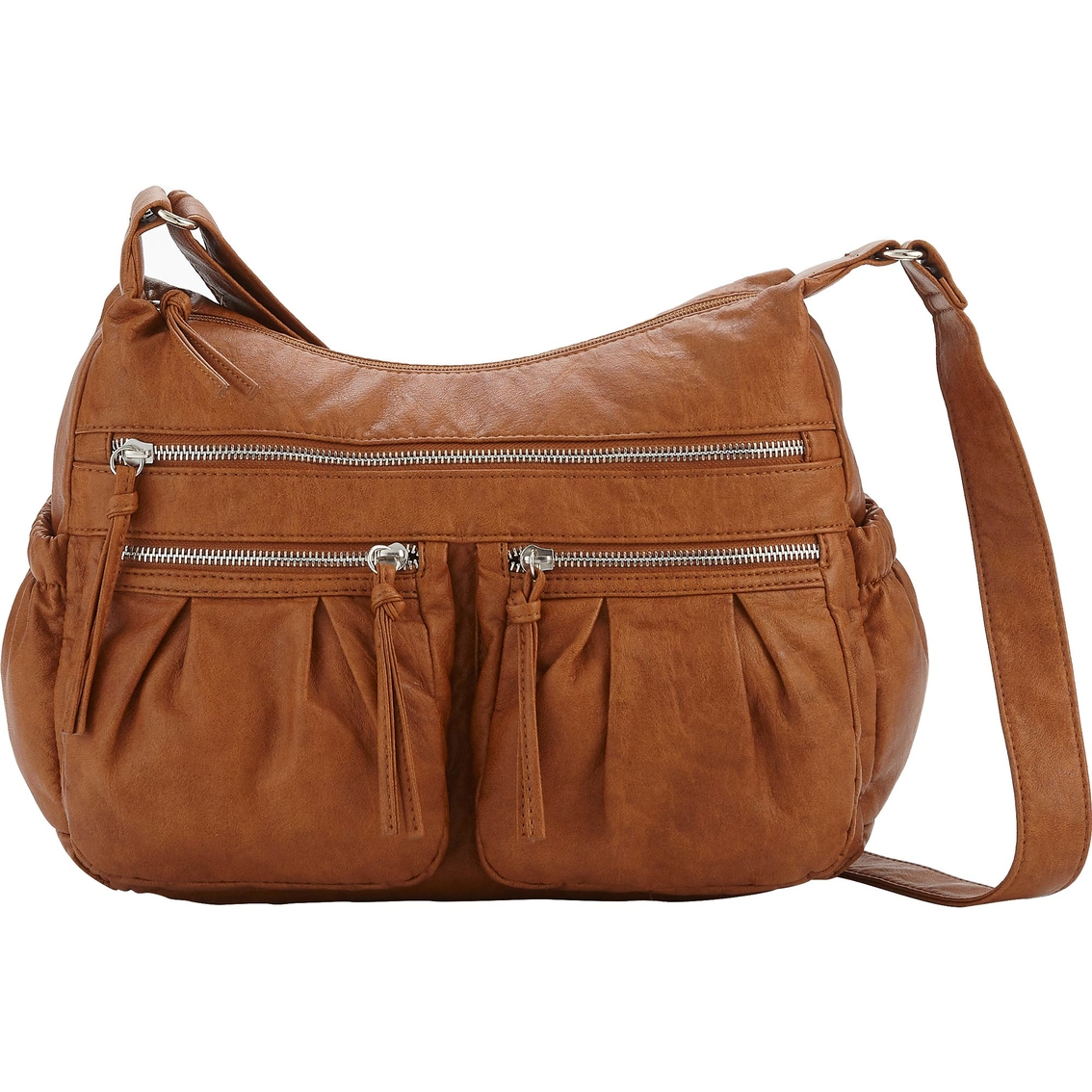Bueno Womens Faux Leather Crossbody Bag