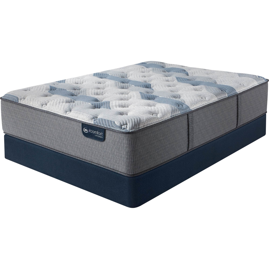 Serta Icomfort Hybrid Blue Fusion 100 Firm Mattress Set