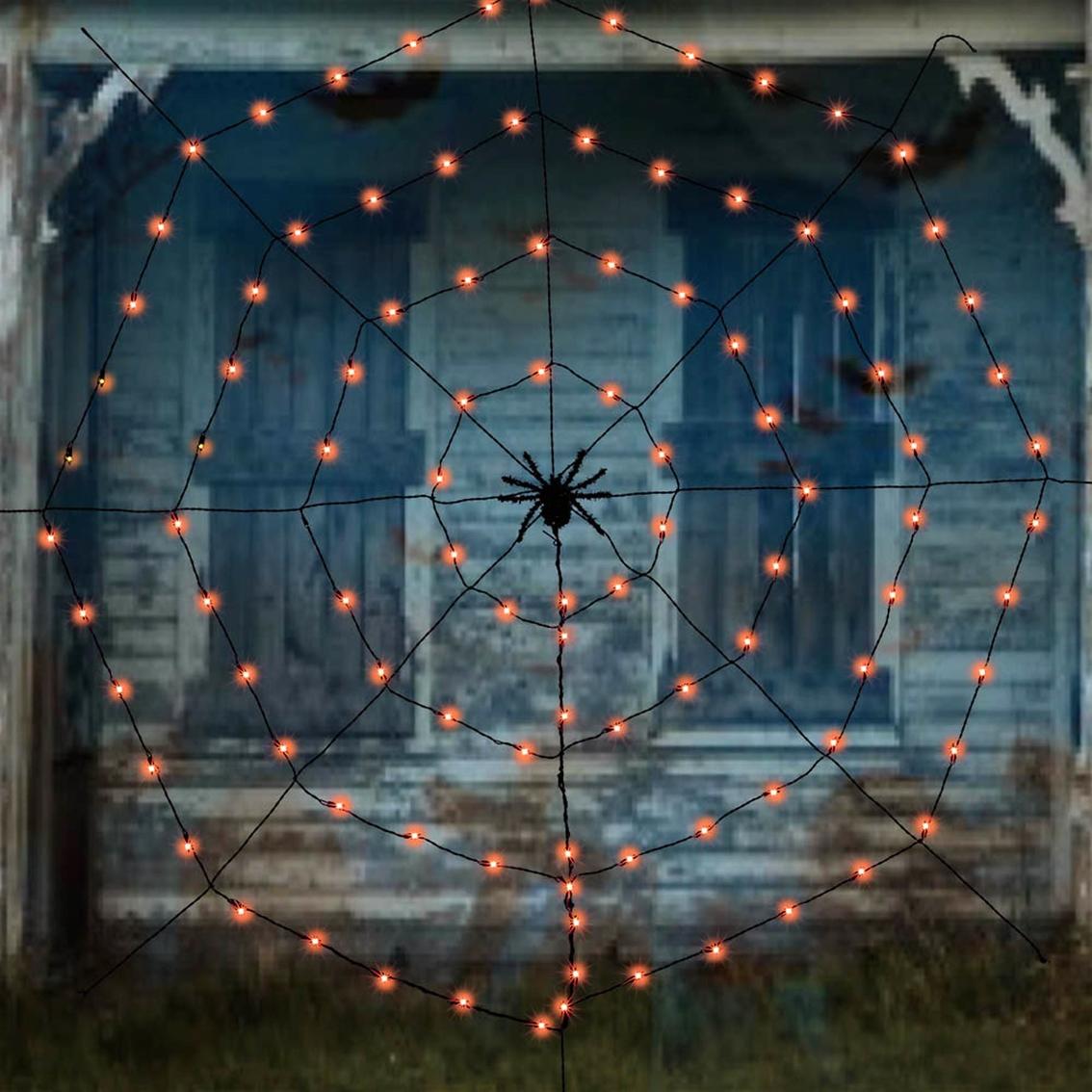 6c859c2d482 Halloween Spider Web Light Set, 7 Ft. | Halloween Outdoor Decor ...