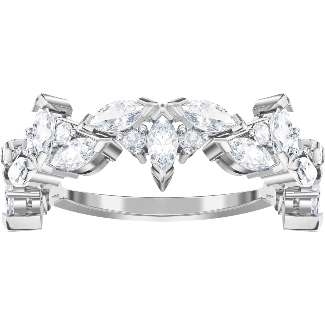 Swarovski Lady Flower Ring, Size 7   Crystal Jewelry