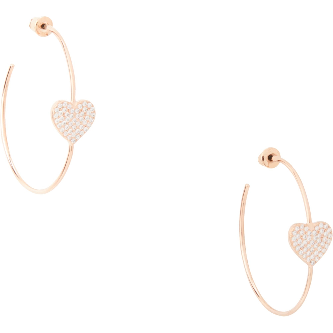 a8bf3bb5c Kate Spade New York Yours Truly Pave Heart Hoops   Fashion Earrings ...