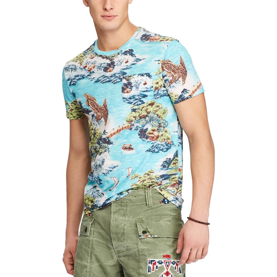 e7d0f7676 Polo Ralph Lauren Classic Fit Print Cotton T Shirt | Polo Ralph ...