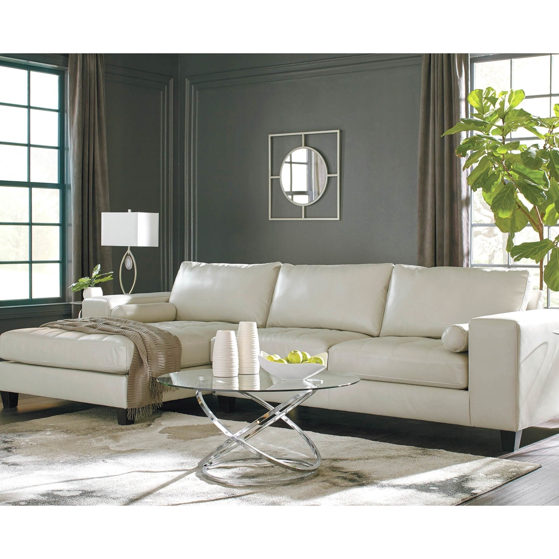 Nokomis 2 Piece Sectional With Chaise: Signature Design By Ashley Nokomis 2 Pc. Laf Corner Chaise