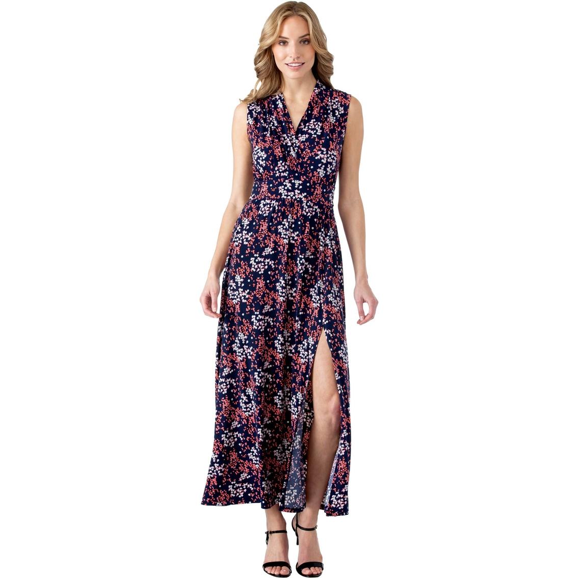42f15730cb5 Michael Kors Petite Scattered Blooms Slit Maxi Dress