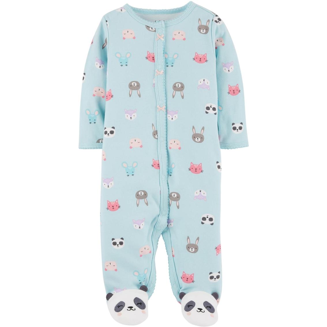 03fa1eabb0cf0 Carter s Infant Girls Interlock Panda Snap Up Cotton Pajamas