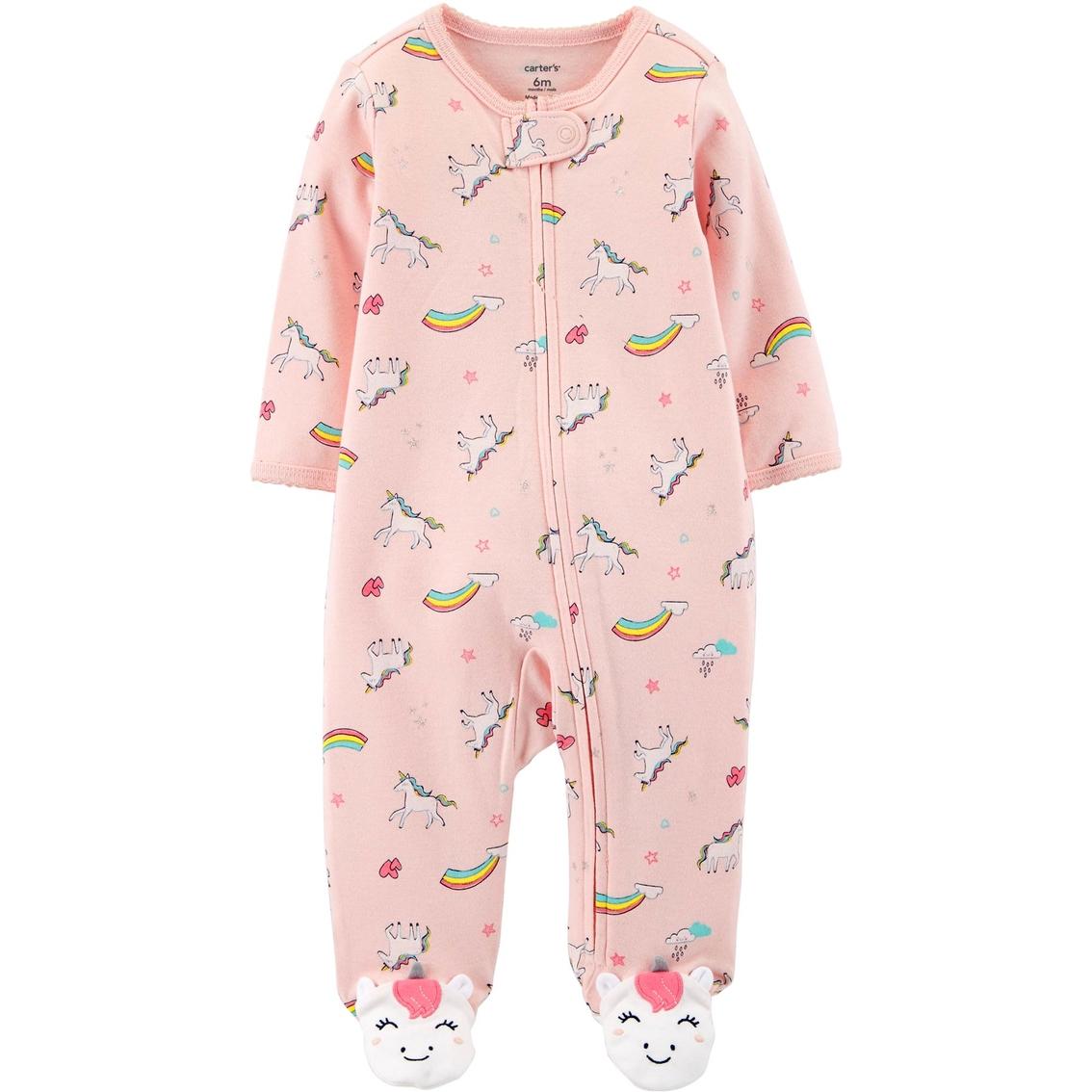 4807b00a7987 Carter s Infant Girls Unicorn Zip-up Cotton Sleep And Play Pajamas ...