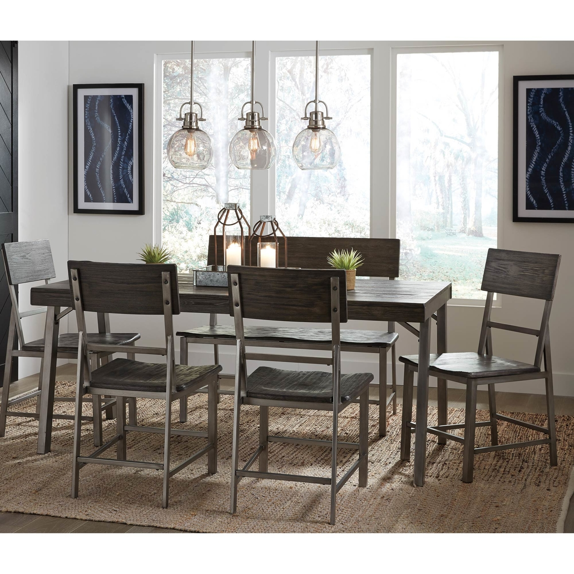 Signature Design By Ashley Raventown 6 Pc. Dining Set