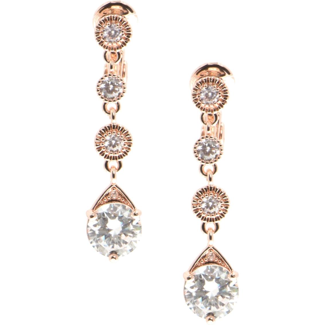 Anne Klein Clip Drop Earrings