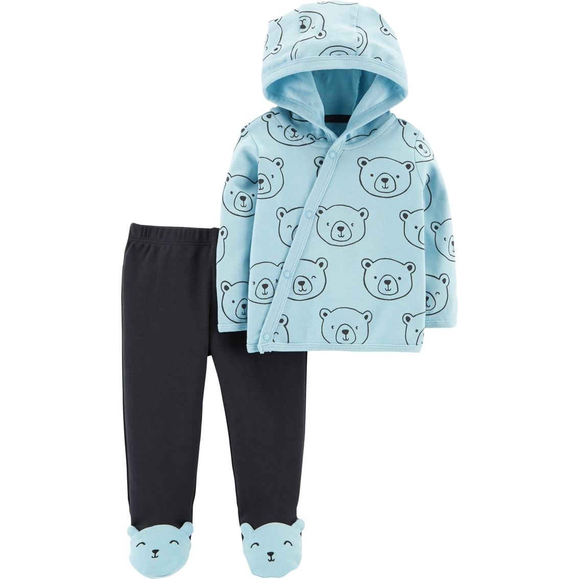 Carter\'s Infant Boys 2 Pc. Side Snap Cardigan And Footed Pants Set ...