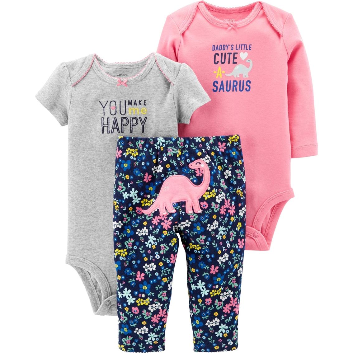 7aa0ec0c7 Carter s Infant Girls Happy Dino Cuteasaurus 3 Pc. Set
