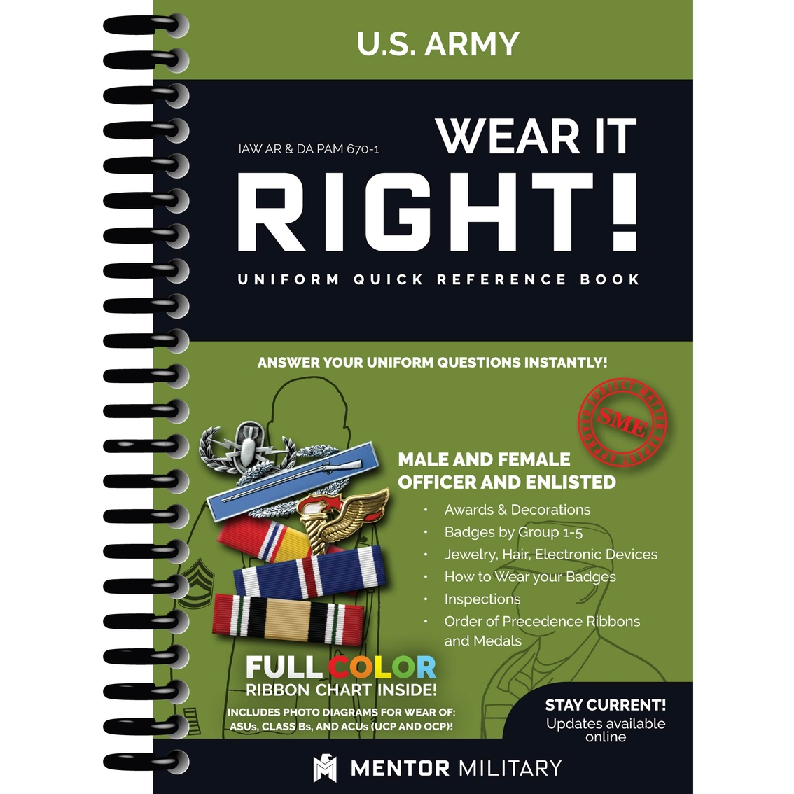 Army wear it right uniform quick reference book books uniform quick reference book ccuart Images
