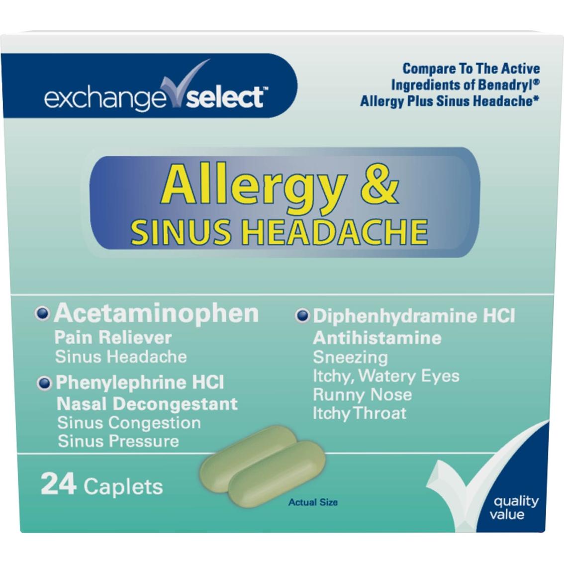 Exchange select allergy plus sinus headache caplet 24 ct exchange select allergy plus sinus headache caplet 24 ct malvernweather Choice Image