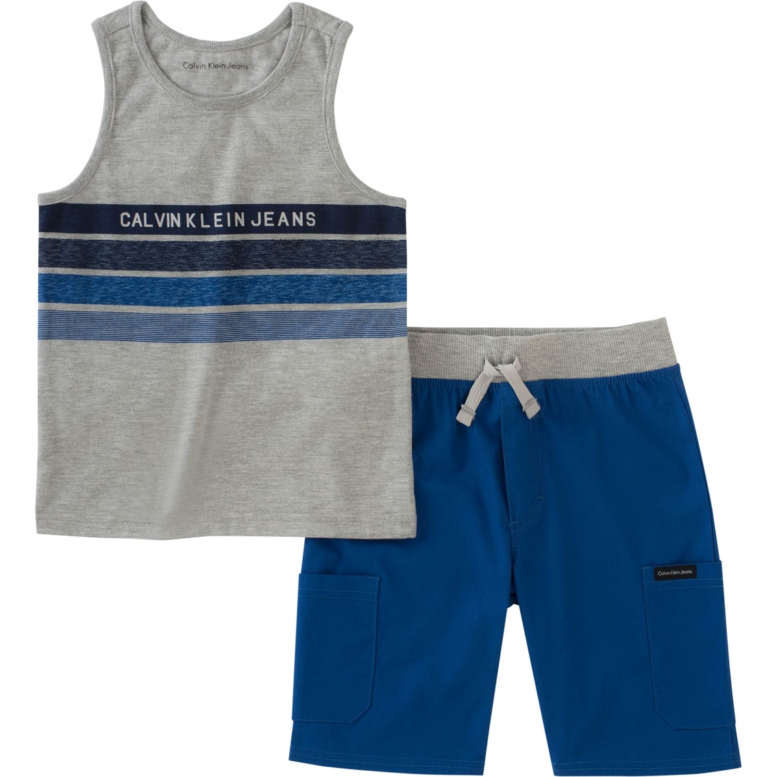 763b0c323e Calvin Klein Toddler Boys Heather Jersey Tank And Shorts 2 Pc. Set ...