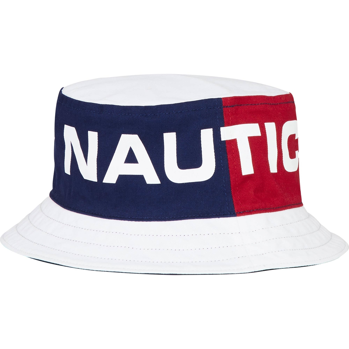 2d488d08b47 Nautica Large Print Reversible Bucket Hat