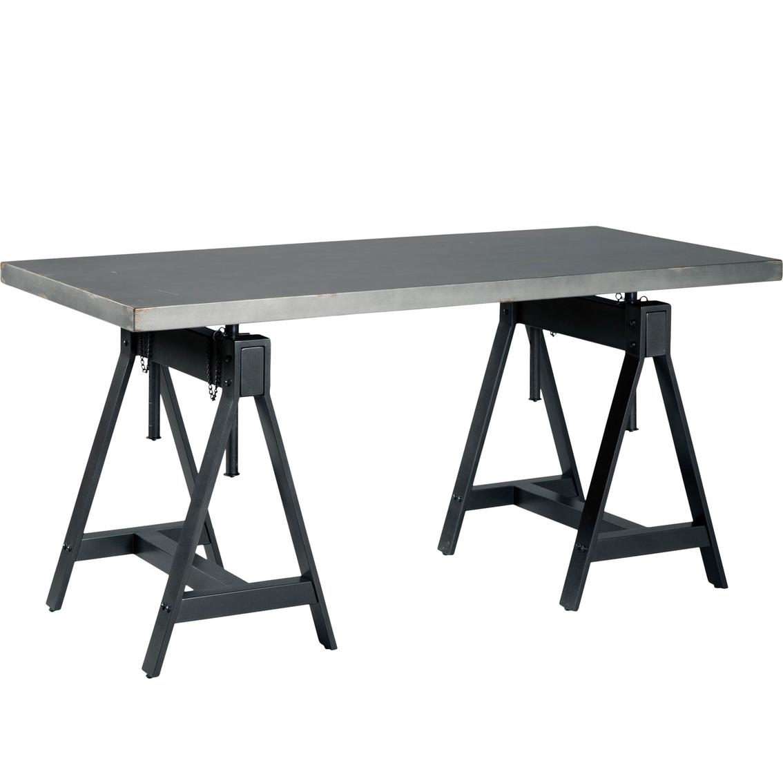Signature design by ashley minnona rectangular adjustable height dining table
