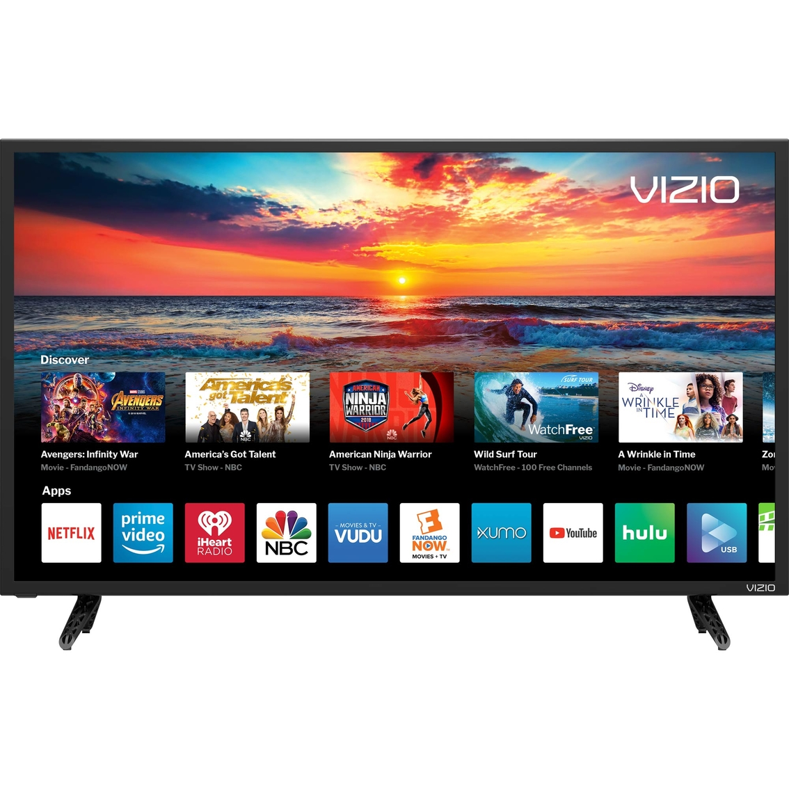 Vizio 43 In  1080p Led 120hz Smart Tv D43f-f1   Tvs   Electronics