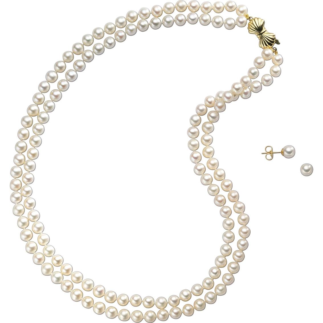 Mikimoto Pearls Necklace: Blue Lagoon By Mikimoto 14k Yellow Gold Freshwater