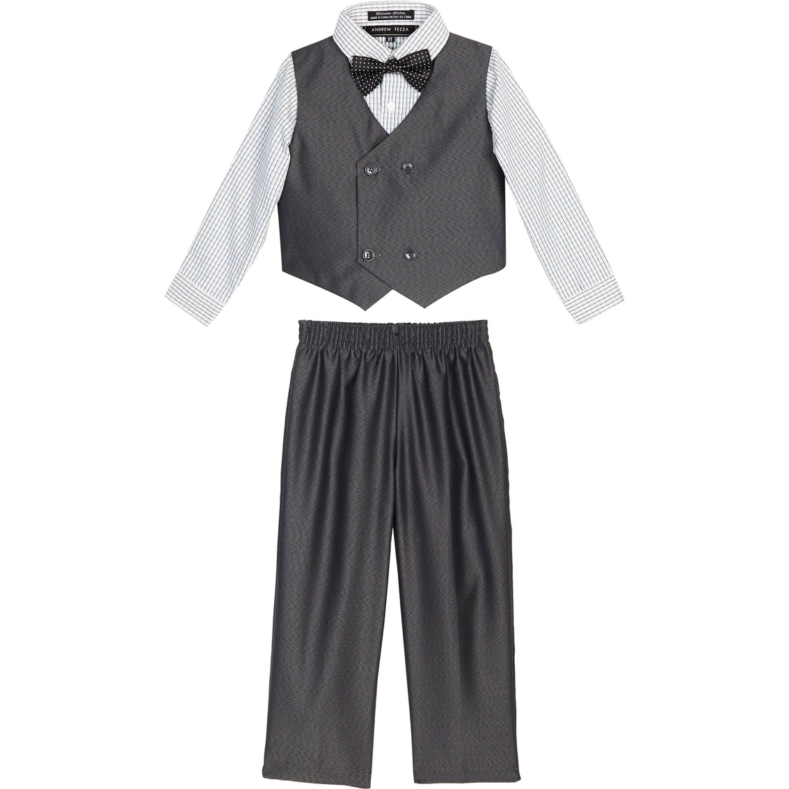 7caaa83551c Andrew Fezza Infant Boys Solid 4 Pc. Vest Set With Bow Tie