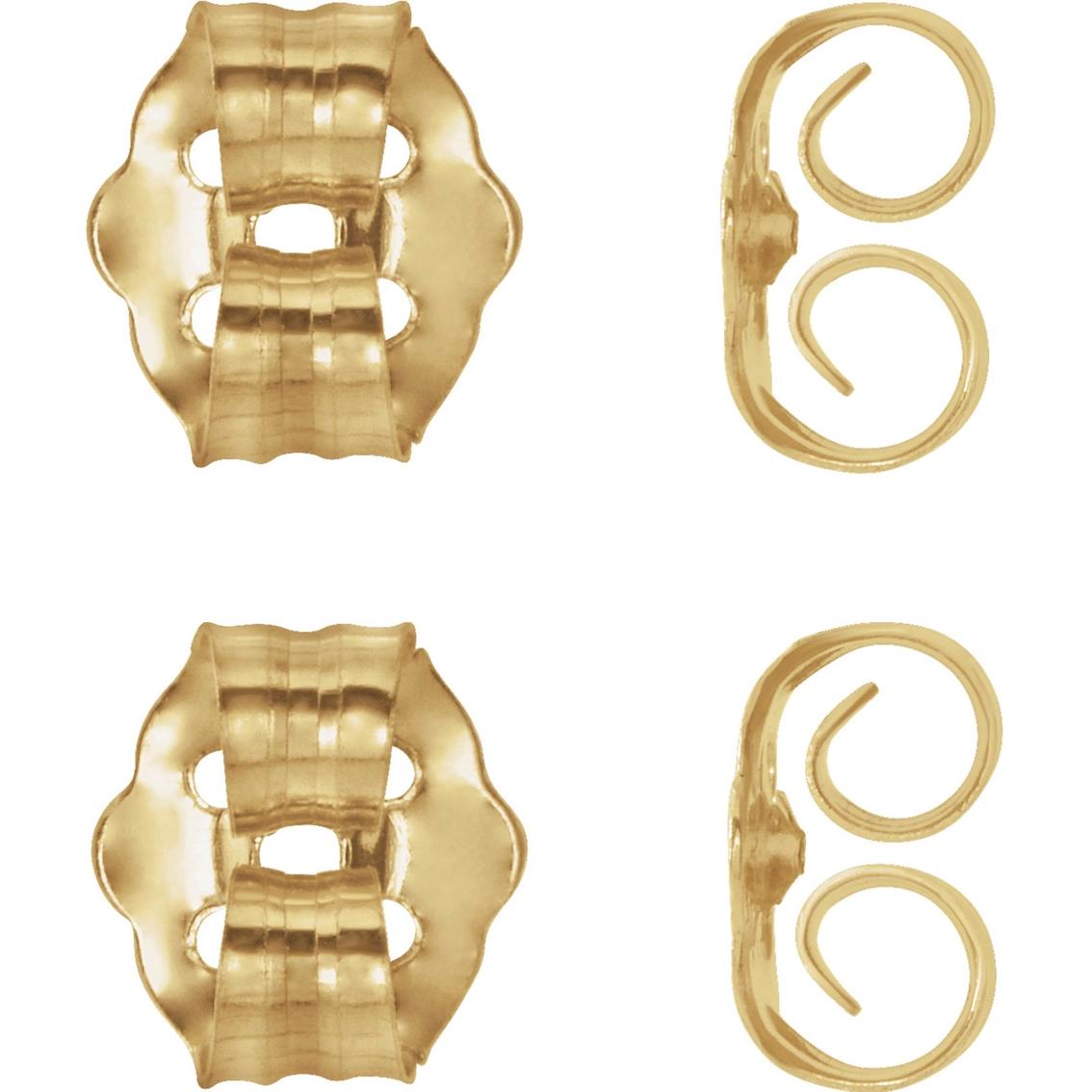 Karat Kids 14k Yellow Gold Push On Screw Off Earring Backs 4 Pk
