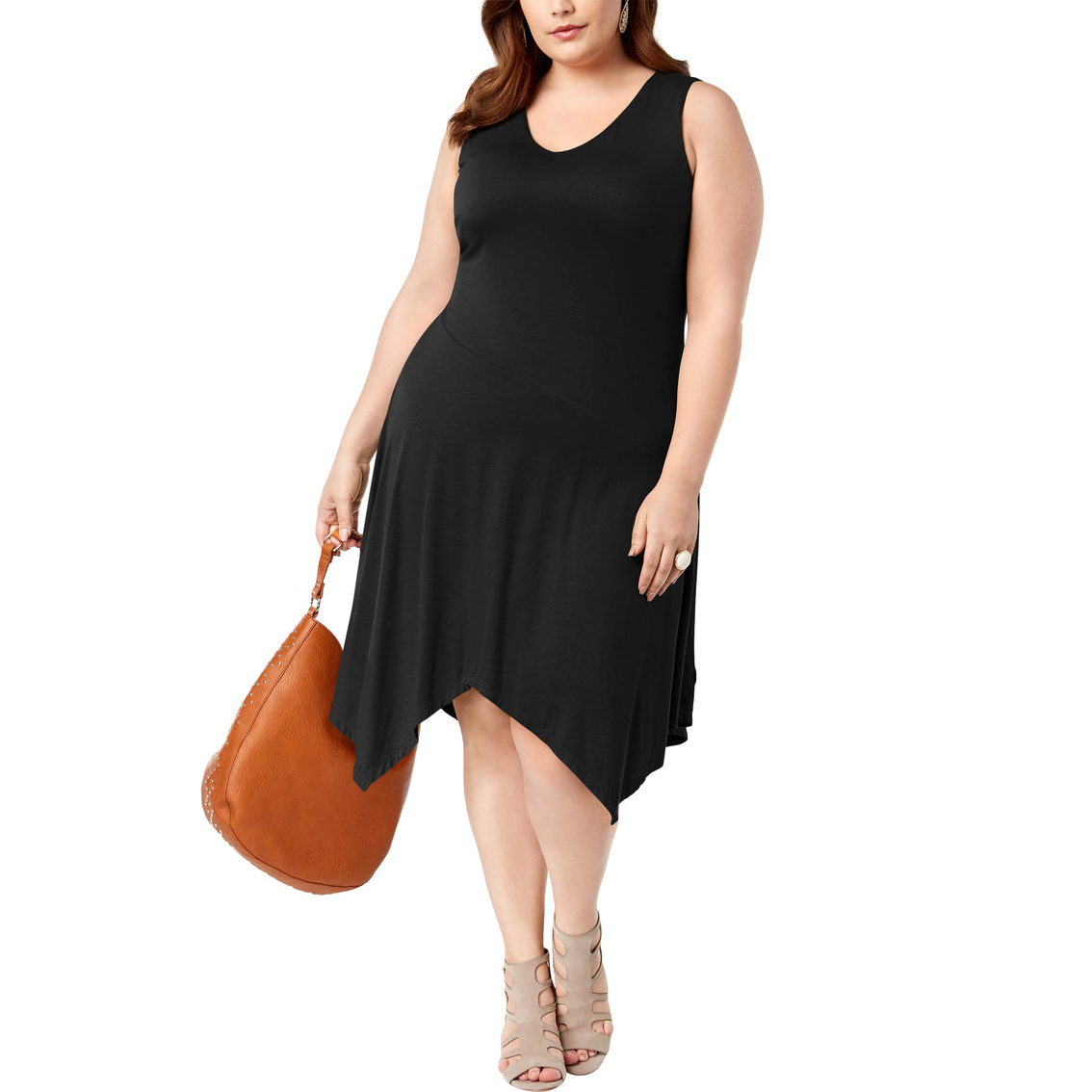 Inc International Concepts Plus Size Handkerchief Hem Dress ...