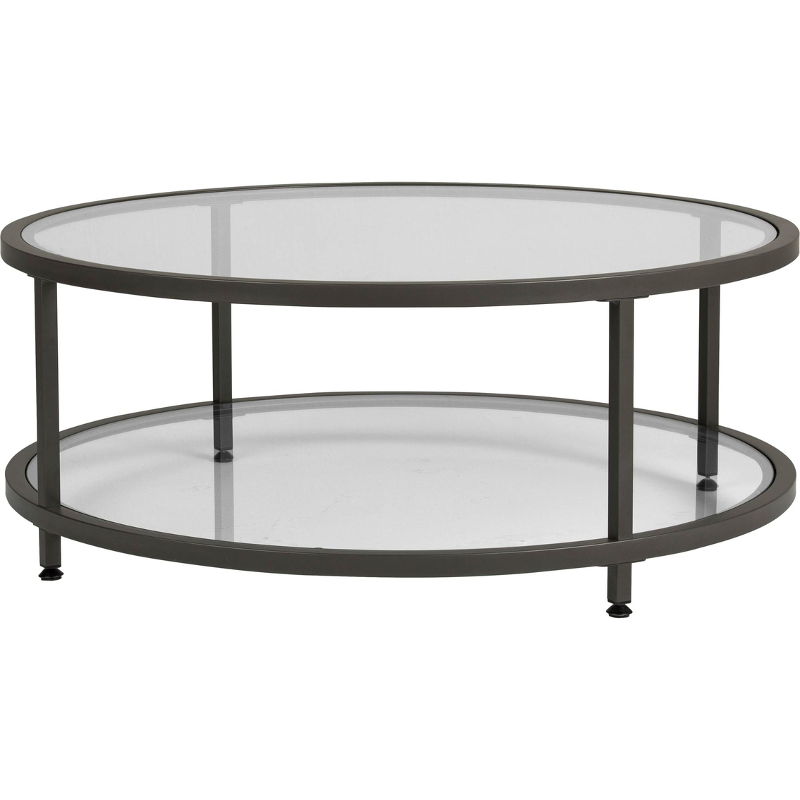 Picture of: Studio Designs Home Camber Modern Glass Round Coffee Table Living Room Tables Furniture Appliances Shop The Exchange