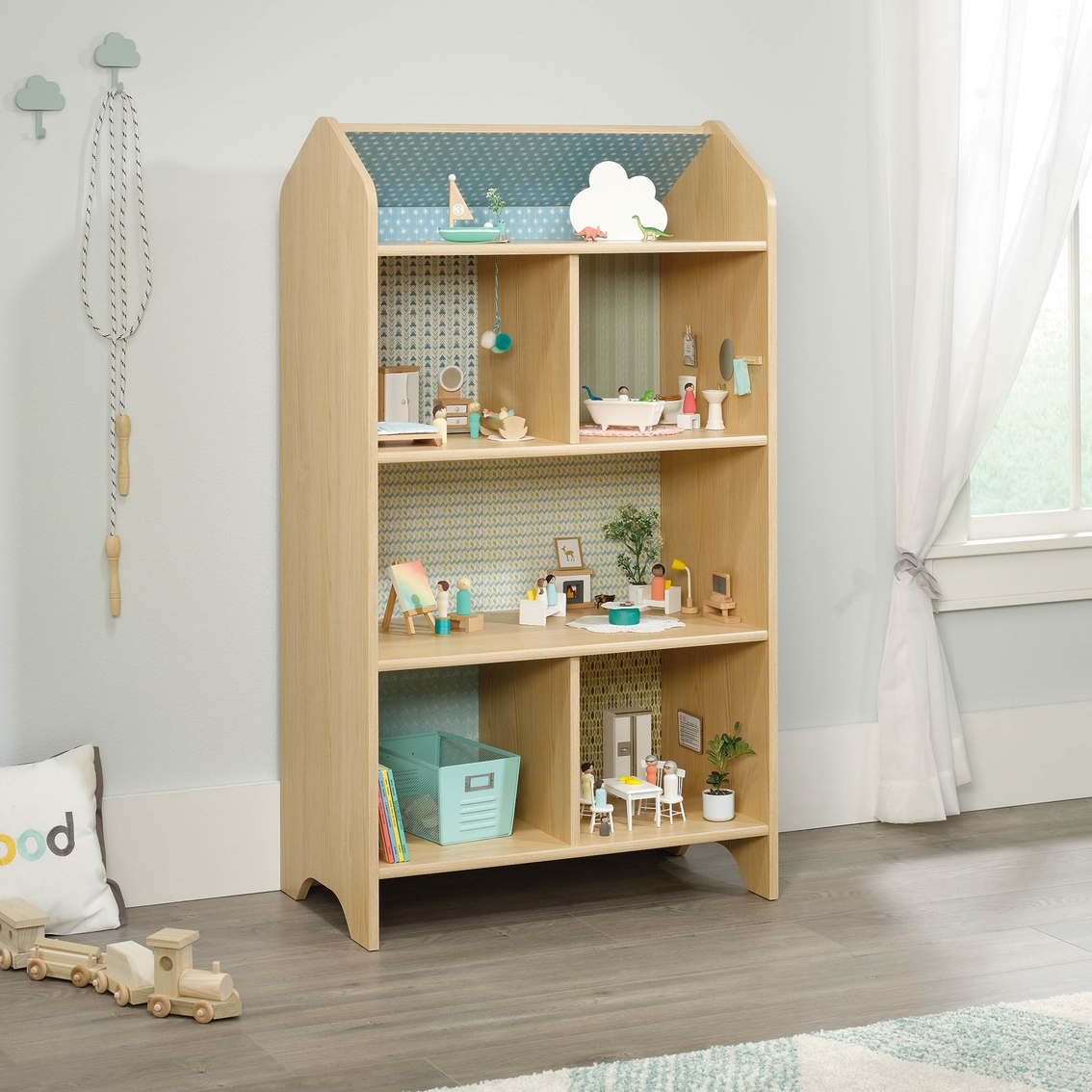Sauder Pinwheel Collection Dollhouse Bookcase Bookcases