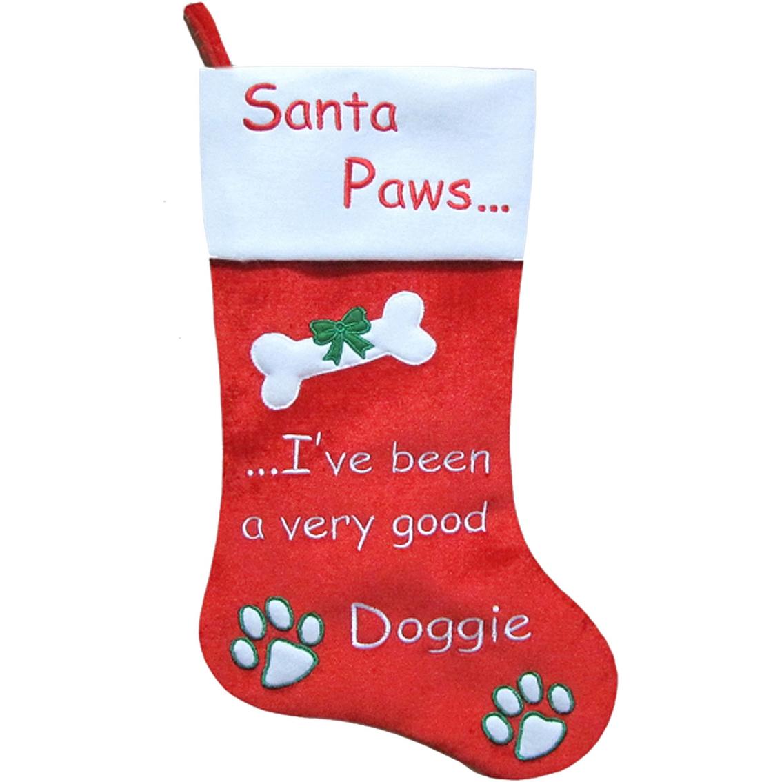 7e49a2c4d6f Christmas Queen Santa Paws Velvet Pet Stocking