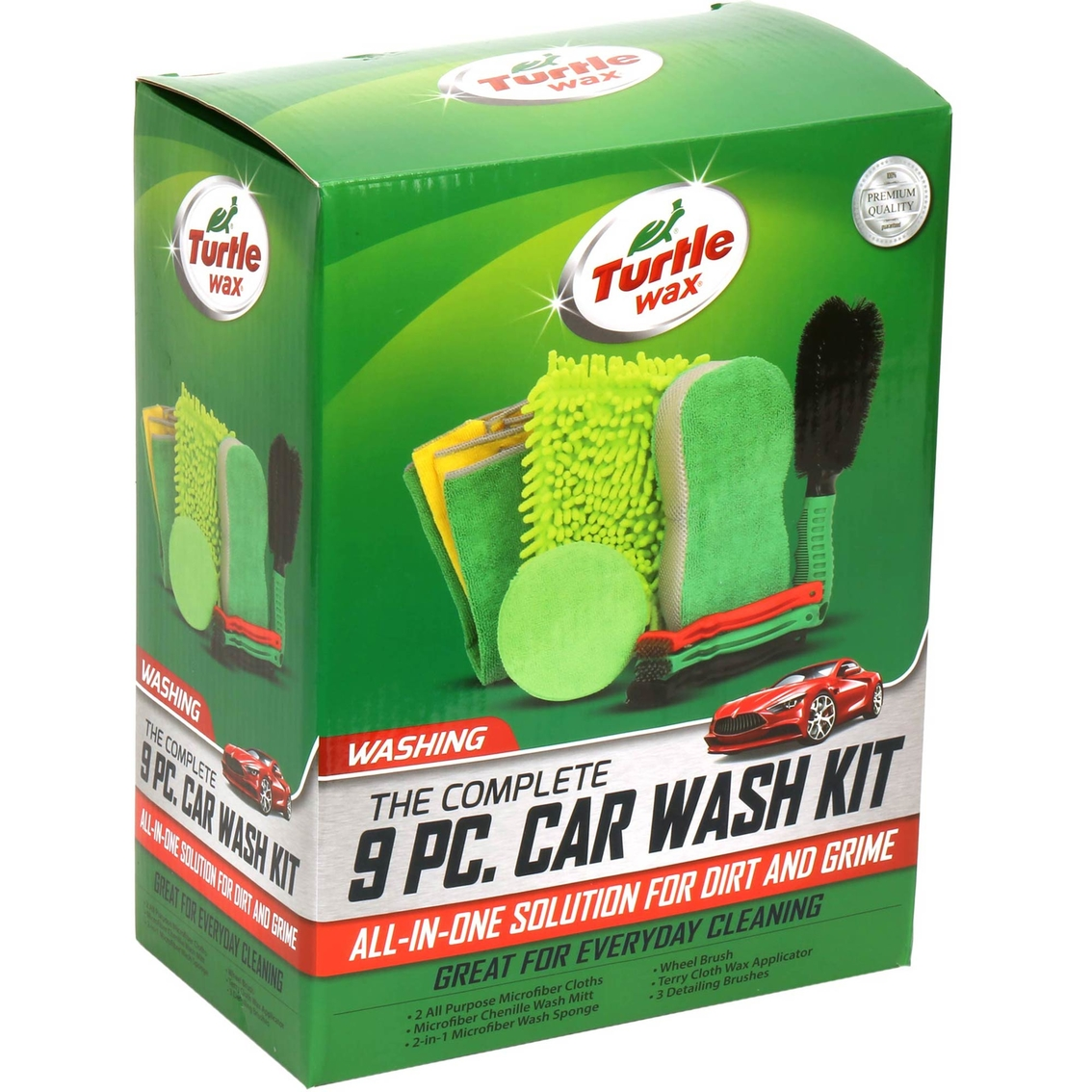 Turtle Wax The Complete 9 Pc Car Wash Kit Care Cleaning More
