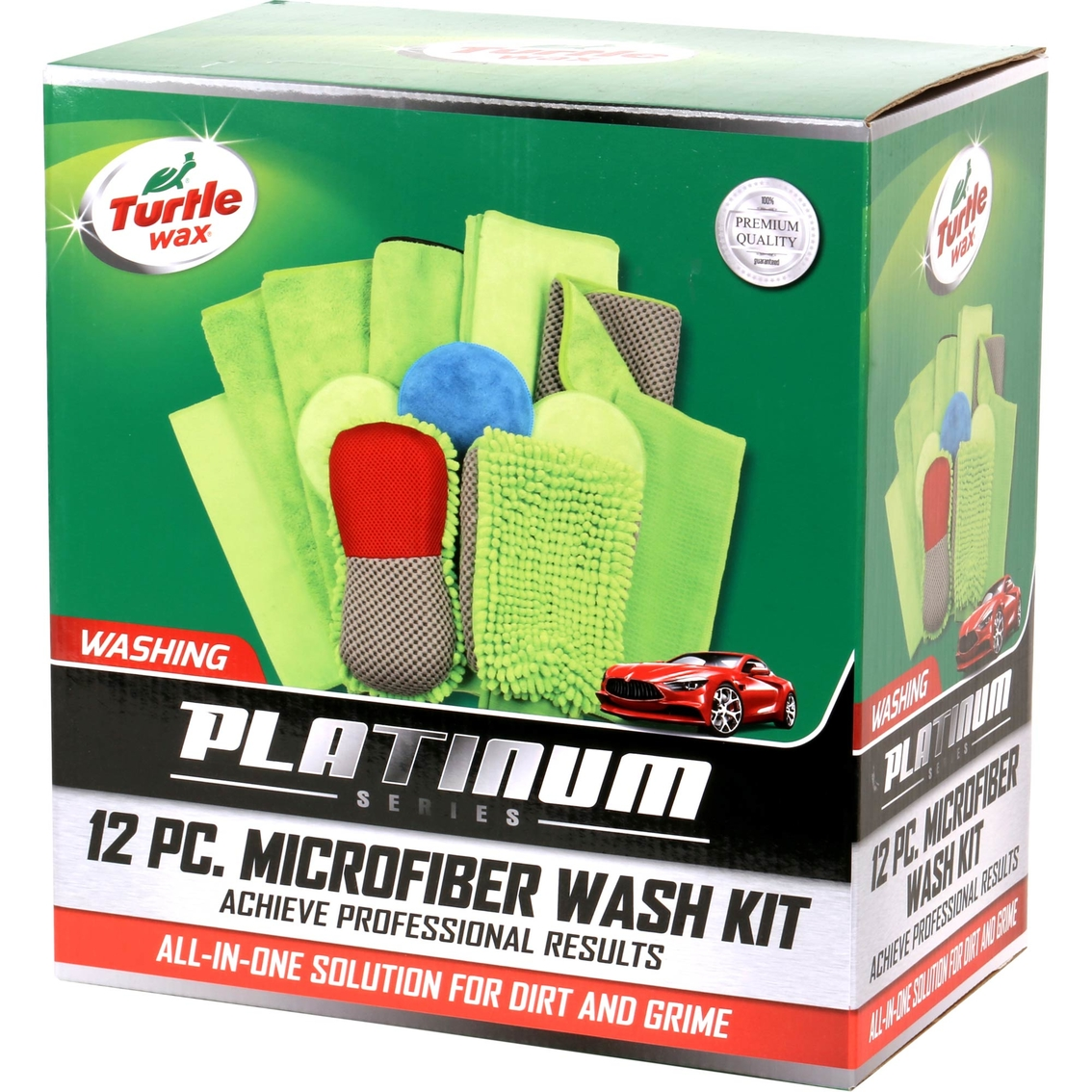 Turtle Wax Platinum 12 Pc Microfiber Car Wash Kit Care Cleaning