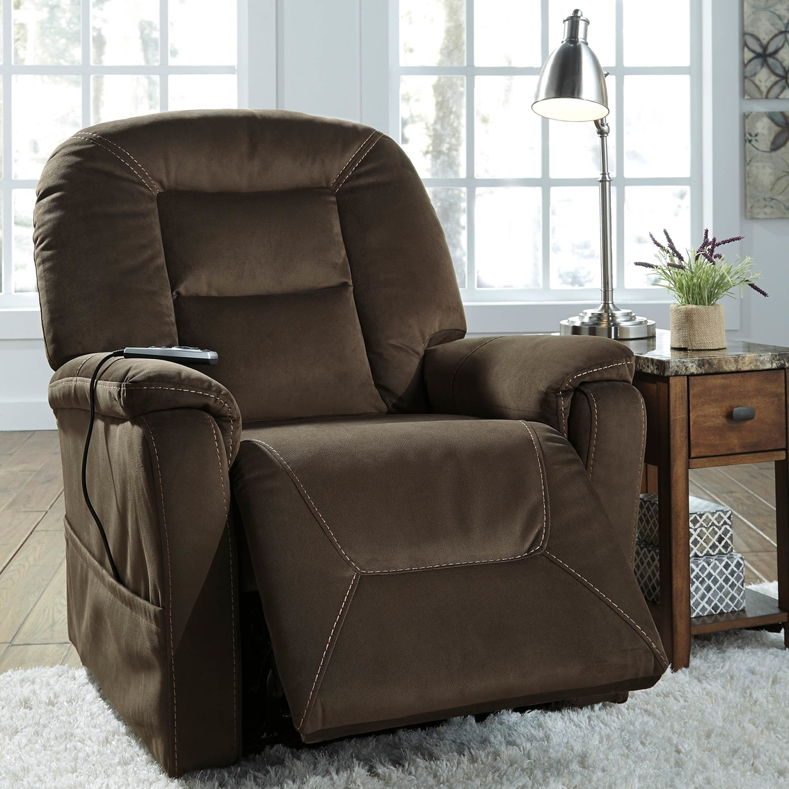 Ashley Samir Power Lift Recliner With Heat And Massage