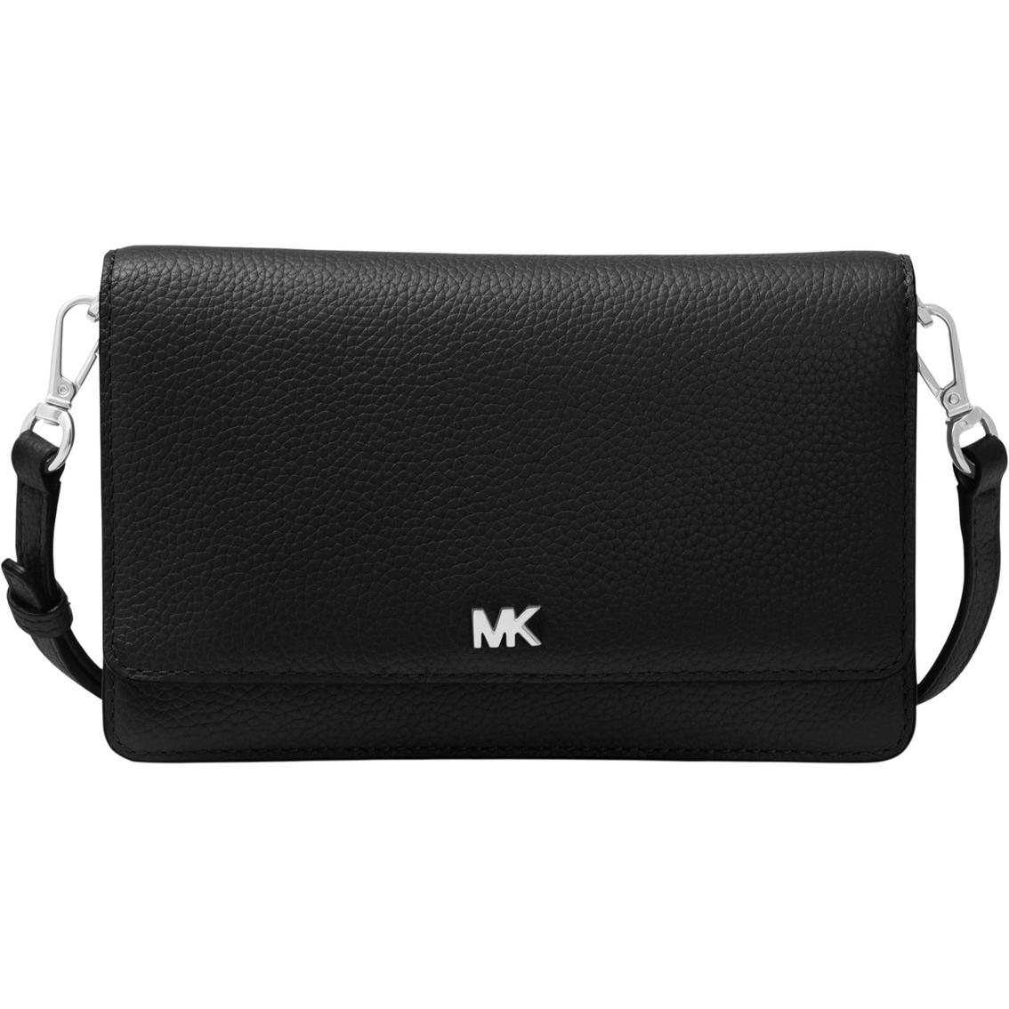 7ad1820e776b Michael Kors Women s Leather Phone Crossbody Pearl Grey