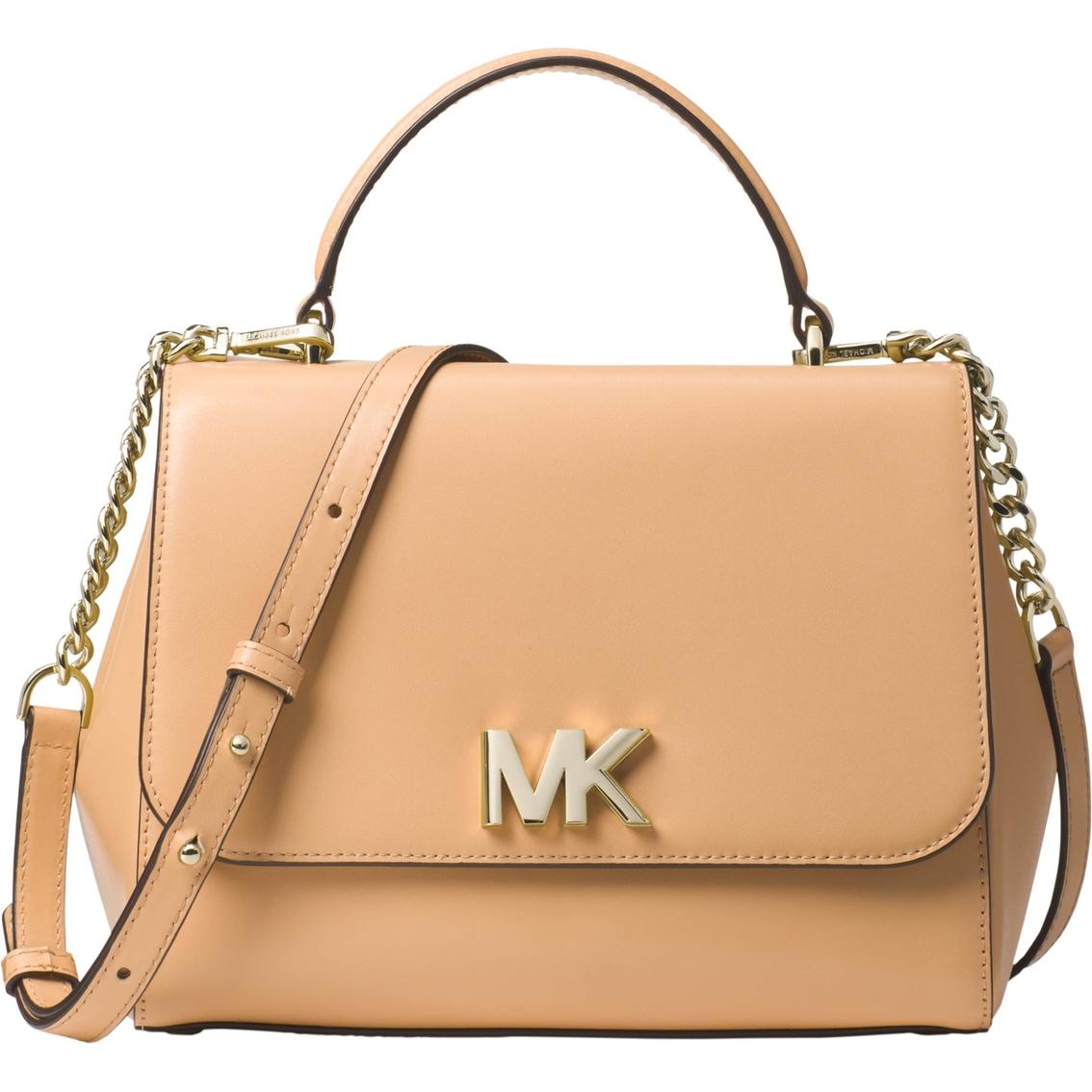29e9f5a3ef1a55 Michael Kors Mott Leather Medium Top Handle Satchel   Handbags ...